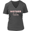 Mother of the Groom - (Pink Rose) Ladies V-neck Mom Tee Women T-shirt - 8 colors available PLUS Size S-4XL MADE IN THE USA