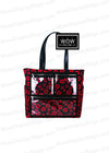 WOW Display Bag | Red Lips Lipstick Kiss Canvas Presentation Tote Bag