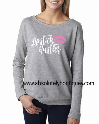 Lipstick Hustler Pink Kiss Long sleeve T-shirt 5 Colors Available Plus Size Tee S-2XL - MADE IN THE USA