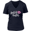 Lipstick Hustler Lip Kiss Pink - Ladies V-neck Tee OR O-neck Women TriBlend OR Unisex O-neck Canvas brand T-shirt - PINK Lips - 7 colors available PLUS Size S-4XL MADE IN THE USA