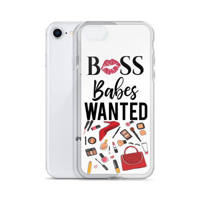 Boss Babes Wanted Red Makeup Fashion Elements Cell Phone Case - iPhone