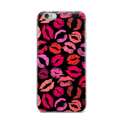 shades of pink lips kiss print lipstick kisses - Cell Phone Case - iPhone