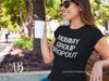 Mommy Group Dropout O-neck Women TriBlend T-shirt Tee - 5 colors available PLUS Size S-2XL MADE IN THE USA