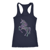 Positive Unicorn Wordart - Ladies Racerback Tank Top Women - 5 colors available - PLUS Size XS-2XL MADE IN THE USA