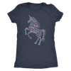 Positive Unicorn Wordart - Tee O-neck Women TriBlend T-shirt - 5 colors available PLUS Size S-2XL MADE IN THE USA