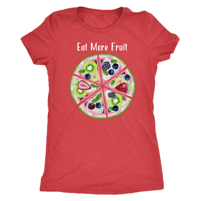 Eat More Fruit Watermelon Pizza Pie - triblend - O-neck Women TriBlend T-shirt Tee - 5 colors available PLUS Size S-2XL MADE IN THE USA