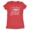 Teachers Not all superheros wear capes - O-neck Women TriBlend T-shirt Tee - 5 colors available PLUS Size S-2XL MADE IN THE USA