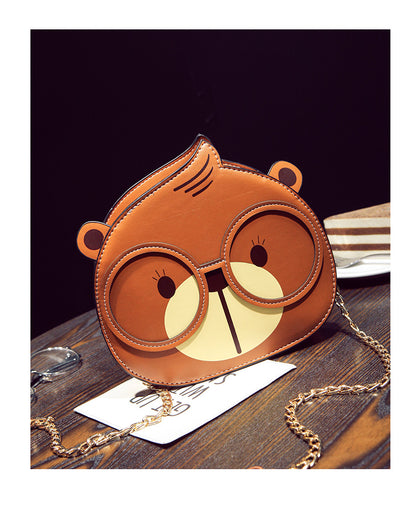 Bear Faux leather Purse Handbag