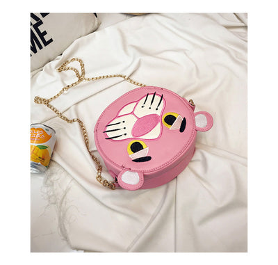 Pink Panther Purse Faux Leather Crossbody Bag