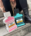 Mouthwash Clutch Bag CrossBody Purse Blue or Pink