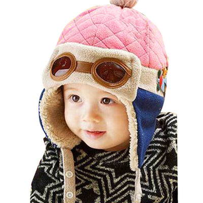 16bbe591f Baby Aviator Hat Toddlers Unisex Boy Girl Kids Infant Winter Pilot Beanie  Cap 4 colors available One size