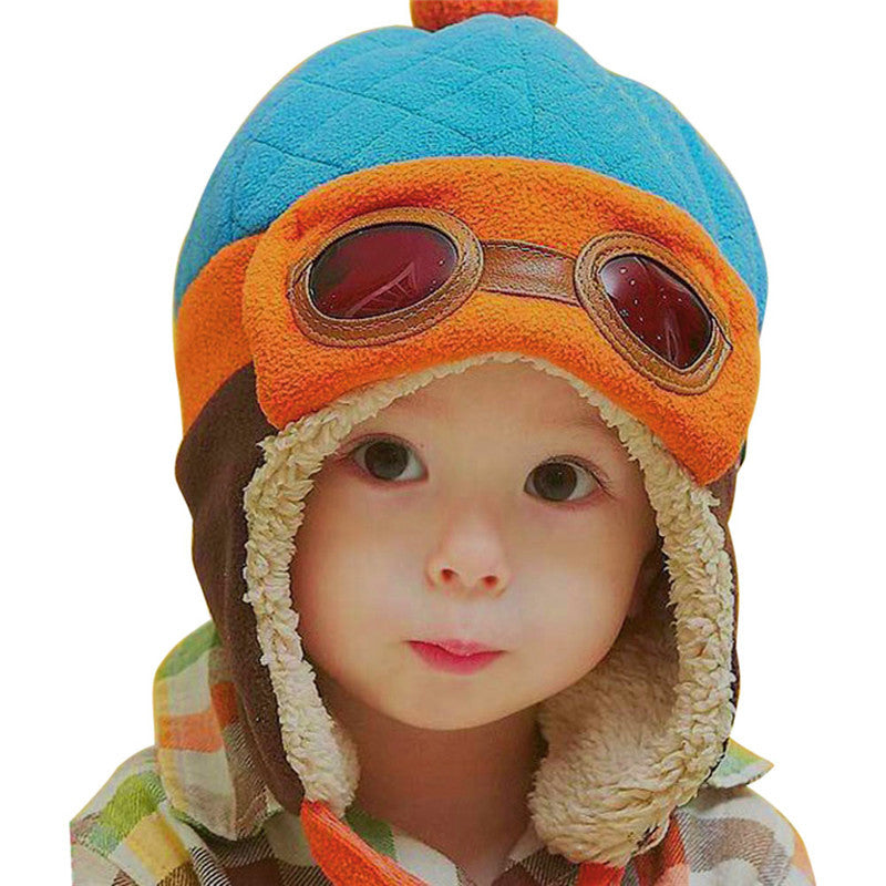 0dfb87d64 Baby Aviator Hat Toddlers Unisex Boy Girl Kids Infant Winter Pilot Beanie  Cap 4 colors available One size