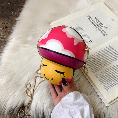 Cartoon Mushroom Video Game Character Purse