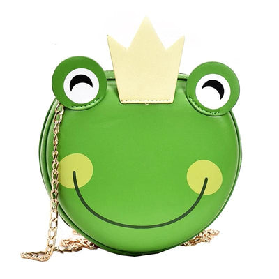 Faux Leather Cartoon Frog Prince Charming Purse
