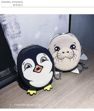 Baby Penguin or Baby Seal Animal Purse