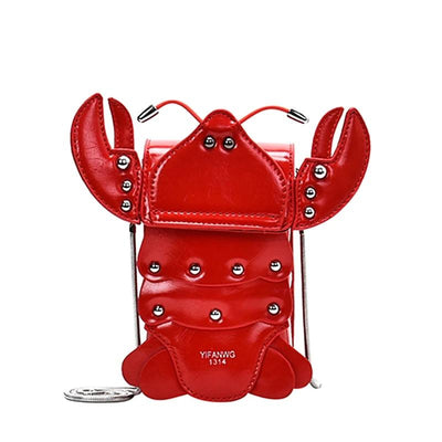 Lobster Lady Purse Crossbody Clutch Bag