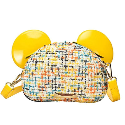 Mouse Ears Wool Fabric Womens Purse