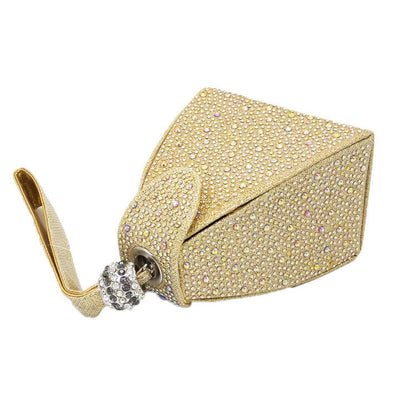 Bling Diamond Pyramid Purse Bridal Wedding Evening Clutch - 6 Colors