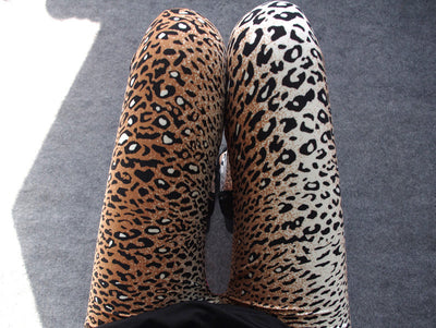 Animal Print Leggings - Leopard, Cheetah, Tiger - 8 Pattern Styles - One Size