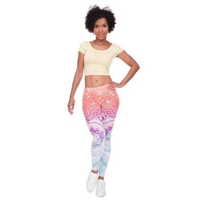 Pastel Aztec Feminine Print - Super Soft Skinny Leggings - One size - Regular