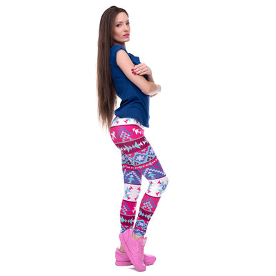 Winter Wonderland Tribal Feminine Print - Super Soft Skinny Leggings - One size