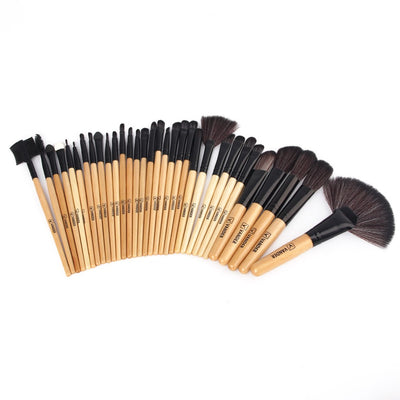 Professional Makeup Brush 32 Piece Set with storage/travel bag - 5 Colors available - Make Up Tools