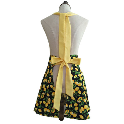Lemon Lover Vintage Style Kitchen Apron