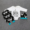 "Baby Sets ""oh deer I'm here"" onesie romper 3 PCS Set + matching pants + hat baby clothes Size 9M-24M"