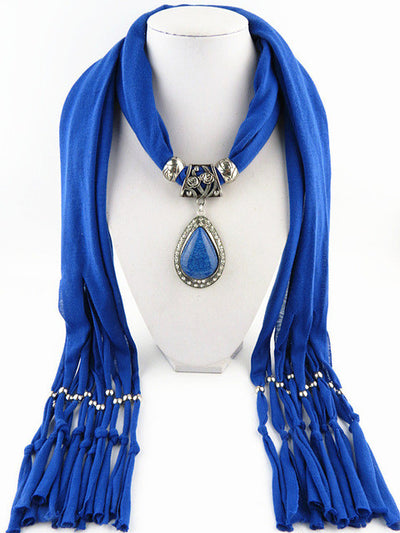 Neckoscarf Jewelry Drop Down Stunning Pendant Charm Necklace Boho Scarf Women 20 styles & colors Available