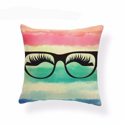"LASHES Pillow Covers Lipstick & Makeup Pillowcases SIZE: 17.7"" - 20 beauty styles"