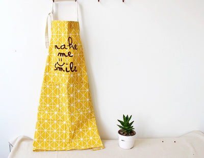 Sweet Summertime BBQ Unisex 100% Cotton Kitchen Apron - Love You & Make Me Smile
