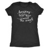 amazing Grace how sweet the sound - O-neck Women TriBlend Christian T-shirt Bible Tee - 5 colors available PLUS Size S-2XL MADE IN THE USA