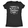 Fearfully and Wonderfully Made - O-neck Women TriBlend  Bible T-shirt Christian Tee - 5 colors available PLUS Size S-2XL MADE IN THE USA