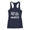 off the market ring Bride - Ladies Racerback Wife Tank Top Women - 5 colors available - PLUS Size XS-2XL MADE IN THE USA
