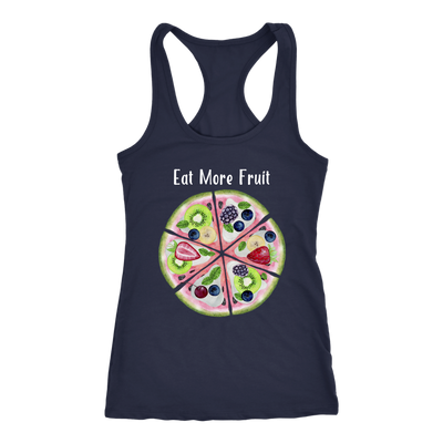 Eat More Fruit Watermelon Pizza Pie -  Ladies Racerback Tank Top Women - 5 colors available - PLUS Size XS-2XL MADE IN THE USA