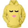 Lips & Lashes Unisex Pull-over Hoodie - Lipstick Kiss - 9 Colors AVAILABLE Plus Size: S-5XL - MADE IN THE USA
