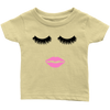 Lipstick Kiss - Lips & Lashes - Baby Tee - 8 colors - Size: 6M-24M - MADE IN THE USA