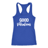 Good Vibrations - Ladies Racerback Mom Tank Top Women - 5 colors available - PLUS Size XS-2XL MADE IN THE USA