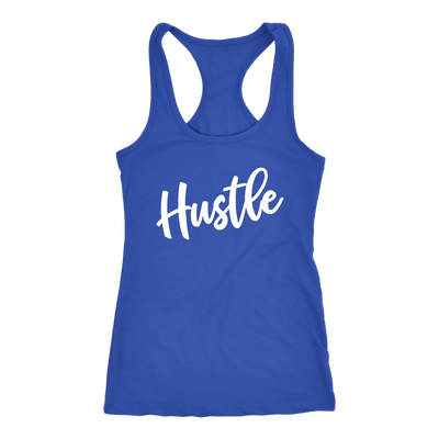 Hustle - Ladies Racerback Mom Tank Top Women - 5 colors available - PLUS Size XS-2XL MADE IN THE USA