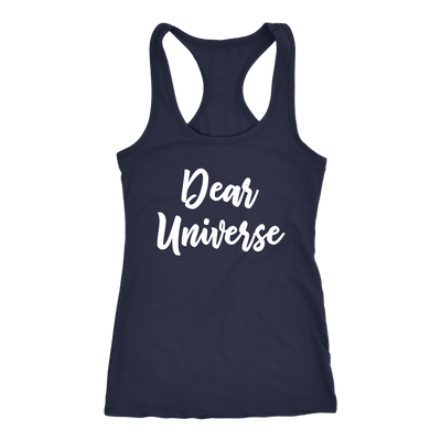 Dear Universe - Law of Attraction - Ladies Racerback LOA Tank Top Women - 5 colors available - PLUS Size XS-2XL MADE IN THE USA