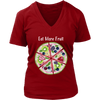 Eat More Fruit Watermelon Pizza Pie - Ladies V-neck Tee Women T-shirt - 7 colors available PLUS Size S-4XL MADE IN THE USA