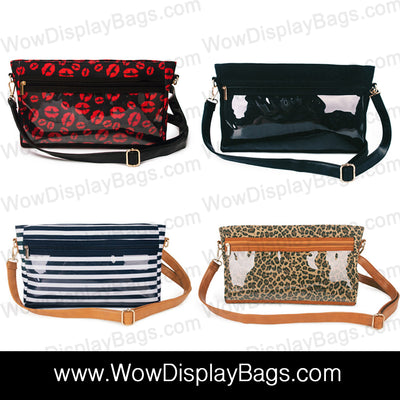 Messenger Display Bag Canvas Product Advertising Direct Sales Wow Display Shoulder Tote Bag - Crossbody Clutch - Leopard