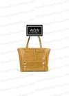 Wow Display Bag - Waterproof Vegan Leather Product Advertising Direct Sales Presentation Tote Bag - TAN