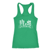 Mom a title just above queen crown - Ladies Racerback Tank Top Women - 5 colors available - PLUS Size XS-2XL MADE IN THE USA
