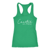 Created with a purpose - Christian Ladies Racerback Tank Top Women - 12 colors available - PLUS Size XS-2XL MADE IN THE USA