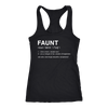 FAUNT - Ladies Racerback Tank Top Women - 5 colors available - PLUS Size XS-2XL MADE IN THE USA