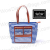 WOW Display Bag | Blue Striped Canvas Presentation Tote Bag