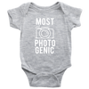 Most Photogenic - Photography - Baby Infant Onesie - 10 Colors AVAILABLE Size: Newborn - 24M - MADE IN THE USA