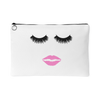 Lips & Lashes Travel Makeup Accessory Tote or Money Bag Size: Small or Large