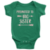 Promoted to Big Sister - Onesie - 9 Colors AVAILABLE Size: Newborn - 24M - MADE IN THE USA